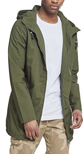 Urban Classics Light Cotton Parka, Verde, 5XL Uomo