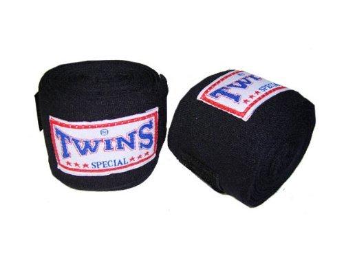 Twins Special Boxen Hand-Bandagen : schwarz