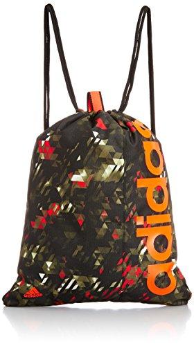 adidas Gym Bag Linear Drawstring Sports Bag Training Bag Black S24729 New