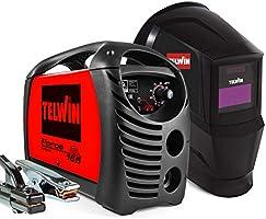 Telwin 815863 Force 165 Saldatrice Inverter ad Elettrodo con Maschera Automatica e Accessori di Saldatura, 230 V, 4,23...