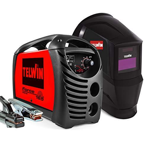 Telwin 815857 Inversor de soldadura de electrodos, Force 165 Val + acc., Rojo