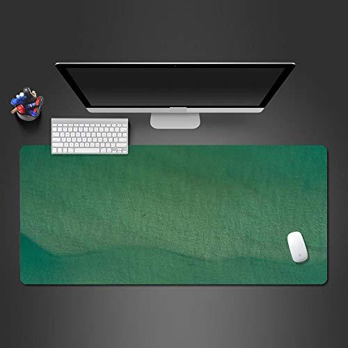 NDLDDDJ Alfombrilla De Ratón para Juegos 3D Grande Caben Ratón Y Teclado 1200X600X3Mm Verde Oscuro Simple Antideslizante Lavable PU-Leather Base De Goma Antideslizante Conpara Portátil U Ordenador I