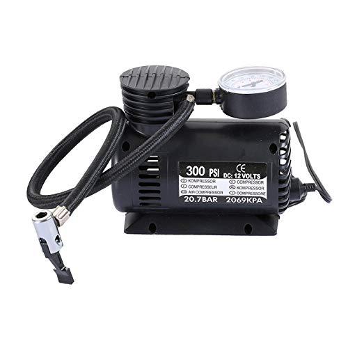 Mini portátil de aire eléctrica auto del compresor del coche for inflar con 3 Boquilla neumática (300 PSI/DC 12V) Alta calidad