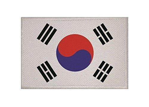 U24 Aufnäher Süd Korea Fahne Flagge Aufbügler Patch 9 x 6 cm