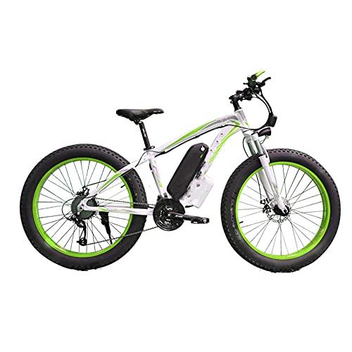 showyow Bicicleta de montaña eléctrica con batería de 17.5ah, 48v 1000w Bike 4.0 Fat Tire Snow Beach e-Bike, para entornos urbanos y desplazamientos hacia y Desde el Trabajo