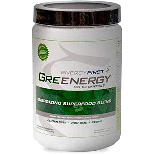 Greenergy Green Juice Organic Superfood Powder – Antioxidant Rich Vegetable Greens Protein Supplement Smoothie Drink Mix with Spirulina, Chlorella – Supports Weight Loss – Sugar Free, Non GMO & Vegan