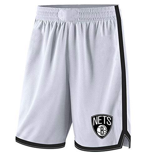 GFENG Unisex Shorts de Basket-Ball Brooklyn Nets Sport Homme Short