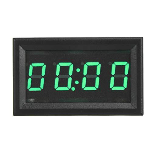 EBTOOLS Reloj digital para coche, 4.5-30V multifuncional LED electrónico digital luminoso reloj para coche reloj accesorio decoración para barcos camión(VERDE)