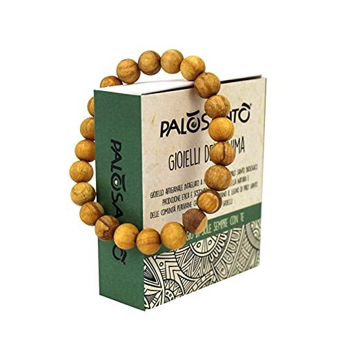 Pulsera - Joyas de Palo Santo - Bienestar Espiritual - Madera Sagrada - trae Bienestar y armonía! - Pulsera Esferas - Medium