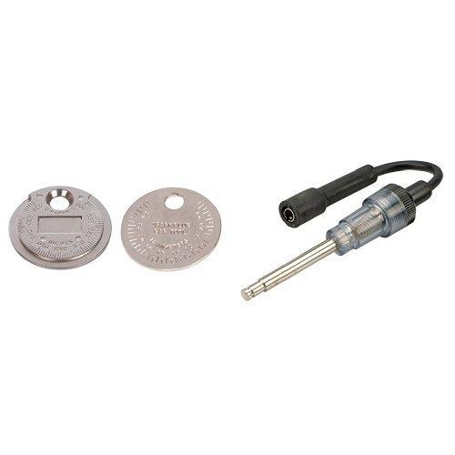 Silverline 202148 - Galga para bujías 0,5 - 2,55 mm y Silverline 633982 Comprobador de bujías 270 mm