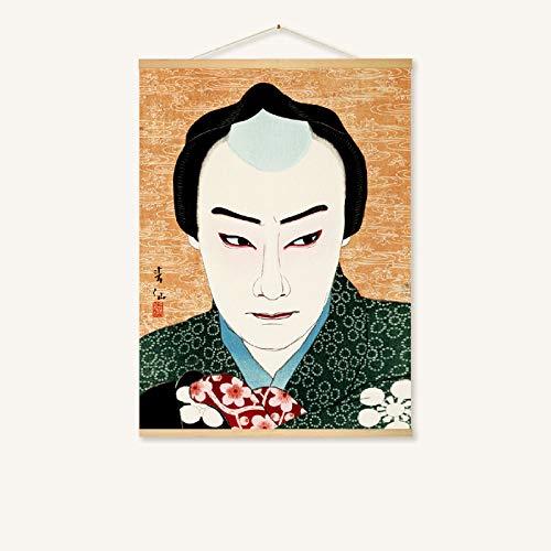 Hängende malerei Japanisches Restaurant wandmalerei rollbild 228-d 40 * 30