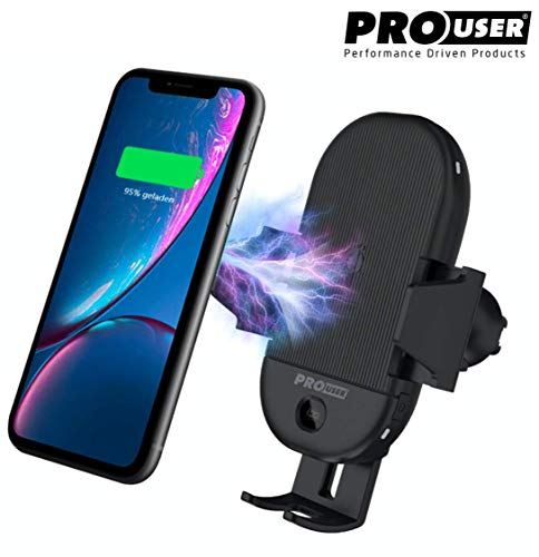 Pro User KFZ-Handyhalterung mit Infrarot Sensor: kabelloses induktives Laden QI fähiger Handys im Auto - Öffnen ohne Zündung