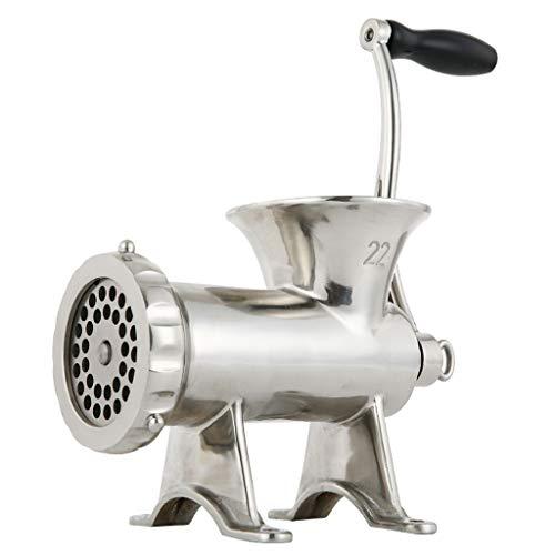 SHENXINCI Accesorio para Picadora de Carne Kitchen Aid para Batidora de Pie Kitchenaid, Picadora de Carne Multifuncional Manual, Hoja de Acero Inoxidable 304, Plateado