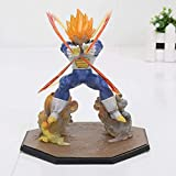 CXNY Figuras de acción Dragon Ball Z Super Saiyan Vegeta Battle State Final Flash PVC Modelo de Jugu...