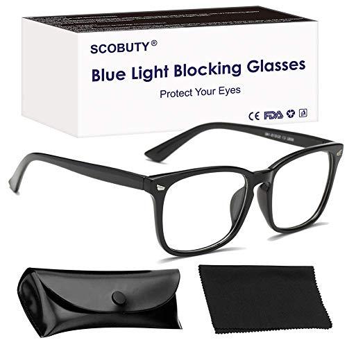 Blaulichtfilter Brille,Blaufilter Brille,Computerbrille,PC Gaming Brille,Anti Blaulicht Brille Blue Light Blocking Glasses Anti Augen Müdigkeit für Frauen und Männer