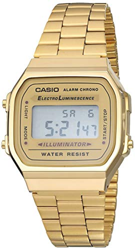 Casio Men's Digital Casio Unisex Classic A168WG-9VT Vintage Japan-Automatic Stainless Steel Watch...