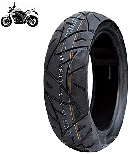 Neumático para Scooter eléctrico, 130/60-13 Neumático de vacío Antideslizante, 6pr Resistencia a la abrasión, Resistencia a los pinchazos, Bajo Nivel de Ruido, Apto para Motocicletas eléctricas, Ne