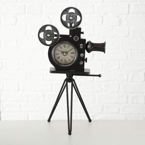 MC Trend Tafelklok retro staande klok decoratieve klok antiek vintage Tafelklok filmcamera H52 cm