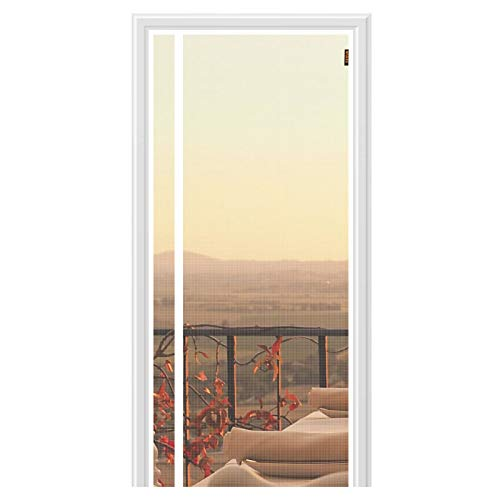 MAGZO Reversible Left Right Side Opening Magnetic Screen Door 38'' x 82'' White, Durable Fiberglass Screen for Door Magnetic Fit Door Size 38'' x 82'' Patio Sliding Magnets Screen Doors