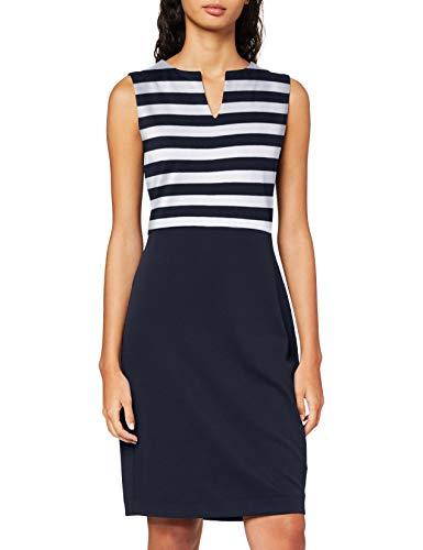 ESPRIT Collection Damen NOOS Dress Lässiges Business-Kleid, Blau, S