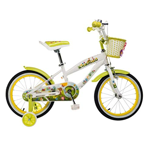Review Children's Bicycle Princess Student Bicycle Pedal Bicycle 14/16/18 Children Bicycle with stab...