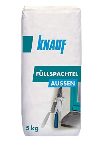 Knauf Füll-Spachtel Außen, 5-kg, – universal einsetzbarer Außen-Spachtel, einsetzbare Außen-Spachtelmasse zum Ausbessern und Verfugen, extra beschädigungsresistent und witterungsbeständig
