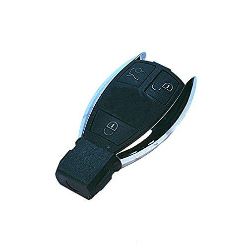 Jurmann Trade GmbH® Mercedes Benz 1x Ersatz Schlüsselgehäuse - 3 Taste Autoschlüssel ks18I Klappschlüssel Schlüssel Fernbedienung Funkschlüssel Neu Gehäuse ohne Elektronik