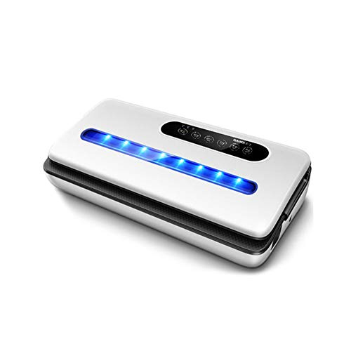 QHAI Vakuumierer Beste Vollautomatische bewegliche Haushalt Lebensmittel nass trocken 220V 130W 36X15x7cm Verpackungsmaschine,Weiß
