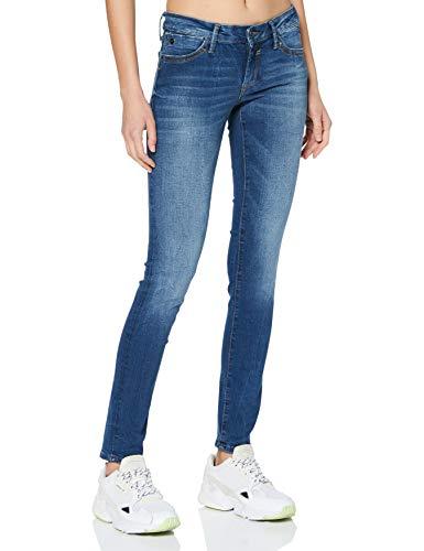 Mavi Damen Lindy Jeans, Dark Brushed Glam, 28W / 30L