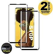 Verre Trempé for Galaxy S10 Plus, [2 Pièces] [Case Friendly] [Ultra Claire] [sans Bulles] [Anti Rayures] Film Protecteur en Verre trempé de Haute qualité pour Samsung Galaxy S10 Plus
