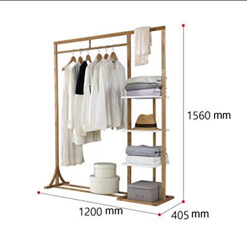 KONGZIR Coat Rack Coat Stand,Housewares Standing Coat and Hat Rack Bamboo Wooden Creative Storage Shelves Hanger