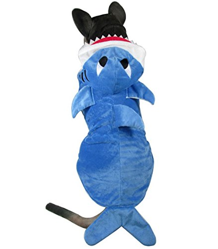 Pegasus Selmai Medium Dog Vêtements d'hiver Costume de requin Dog Sweat à capuche Costume Manteau pour chien en polaire Pyjama Animal