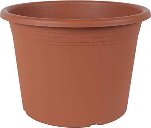 Geli thermo plastic cylindro pot de fleurs couleur terre cuite ø 50