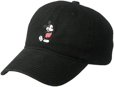 Disney Men's Mickey Washed Twill Baseball Cap, Adjustable