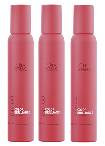 3er Color Brilliance Conditioning Mousse Invigo Wella Professionals mit Vitaminen angereichert je 200 ml = 400 ml