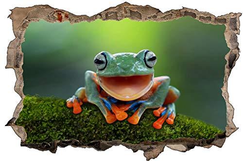 Fotografie Frosch Natur Tier Wandtattoo Wandsticker Wandaufkleber D1649 Größe 70 cm x 110 cm