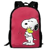 Mei-shop Mochila Informal Lovely Sn-oopy Print Zipper School Bag Travel Daypack Mochila