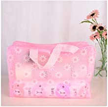 ZQLY Plastic waterproof cosmetic bag storage bag travel storage bag cosmetic storage rack home (Color : E)