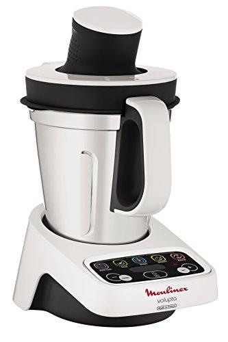 Moulinex HF404113 Robot de cocina multifunción, capacidad de 3 l, interfaz intuitivo con 5 programas automáticos, 5 accesorios, 1000 W, Plástico