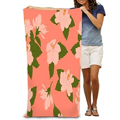 Toallas de baño rosa pálido Hibisco con Perfectscrapbooking Pared Toallas de Playa 80 x 130 cm