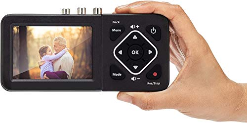 AV480-ITA Box Acquisizione Video Vhs Digital Converter DVD, Videoregistatori Videocassette Vhs, Videocamera, Video 8, HI8, Sorgenti RCA. Registra su Sd Card, Pen Drive o Hard Disk esterno. Senza Pc
