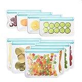 [10 Pack] Reusable Sandwich & Snacks Bags,Wattne Reusable Ziplock Storage Bags Freezer Safe