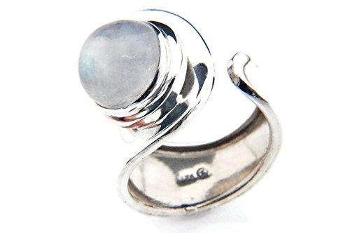 Mondstein Ring 925 Silber Sterlingsilber Damenring weiß verstellbar (MRI 62-04)