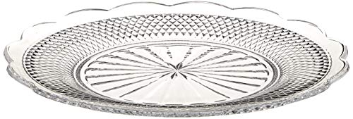 Villeroy&Boch Villeroy & Boch-Boston Flare 11-7319-0794 Round Buffet Plate Made of Crystal Glass with Extravagant Ornaments and Elegant Cut, Dishwasher Safe