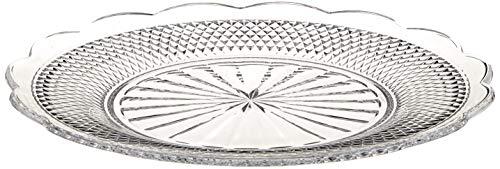 Villeroy&Boch 11-7319-0794 Villeroy & Boch-Boston Flare Platzteller, runde Buffetplatte aus Kristallglas mit extravaganten Ornamenten und edlem Schliff, spülmaschinengeeignet
