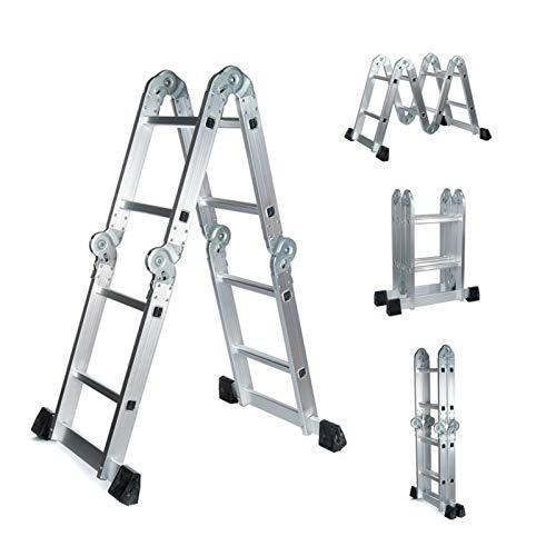 Gaorb040703 Inicio 4.7m Pesado de aleación de Aluminio Escalera Escalera telescópica multifuncional-330lbs, con Antideslizante Escalera de Seguridad Plegable Herramientas de Hardware (Color : 1pc)
