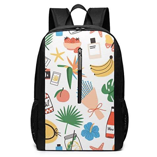 Borsa del portatile Summer Attributes Laptop Backpack 17-inch Laptop Backpack for High School Or College bookbag