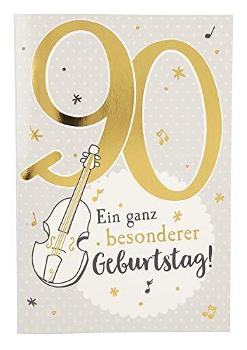 Depesche 5698.112 Glückwunschkarte mit Musik, 90. Geburtstag