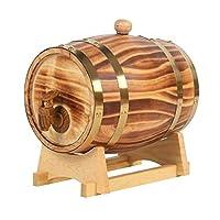 オーク樽、ビールウィスキーラムポート樽貯蔵のためのヴィンテージウッドオーク木材ワイン樽 (Color : 01, Size : 15L)