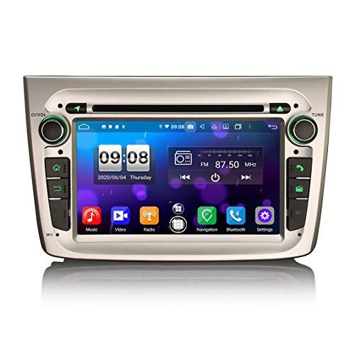 JIBO para Alfa Romeo Mito 2008-2019 Carro Estéreo Multimedia Jugador 7' Android 10.0 Auto Radio GPS Navegación Cabeza Unidad SWC DSP CarPlay Bluetooth Video Receptor Nav Sat